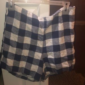 Old Navy Blue Gingham Shorts Size 6